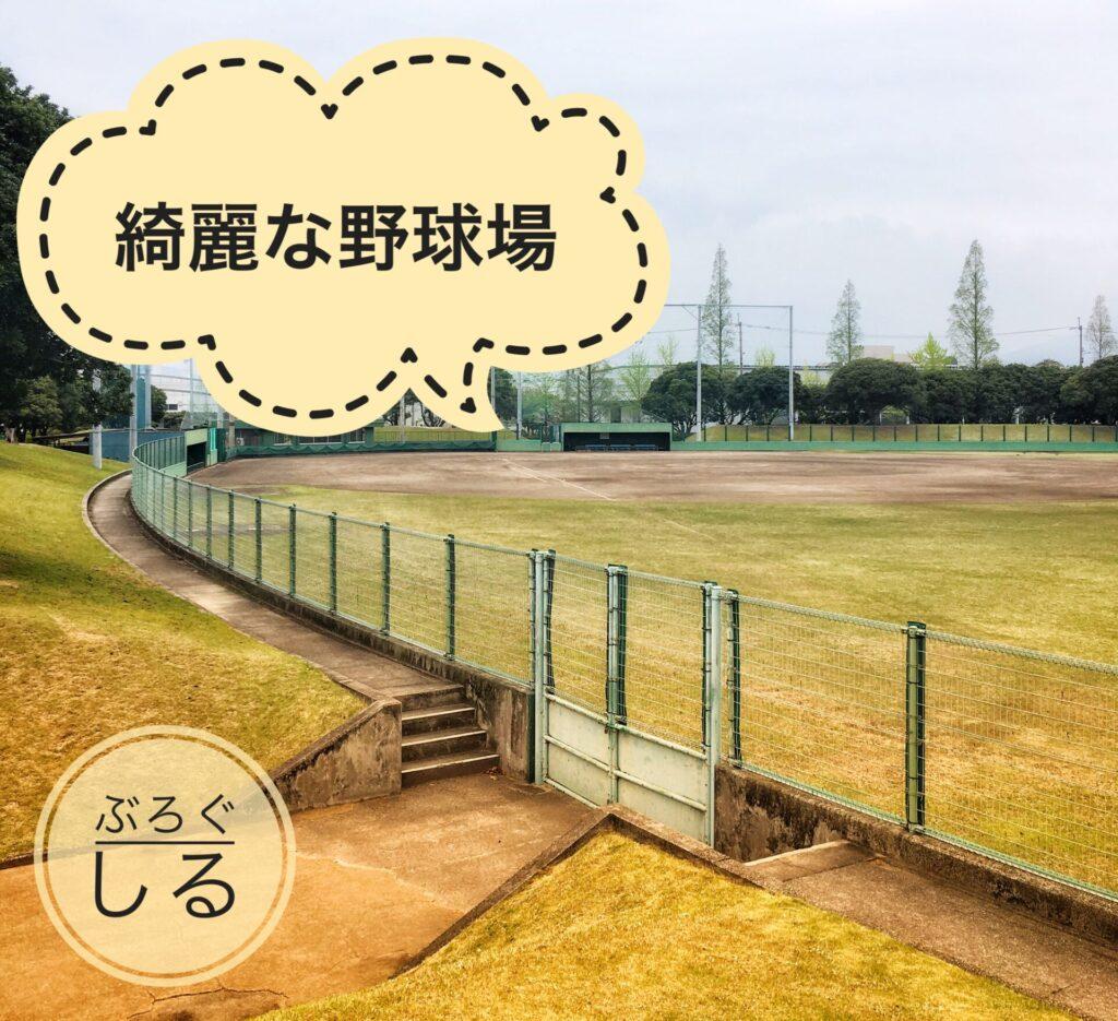 伊予三島運動公園の野球場