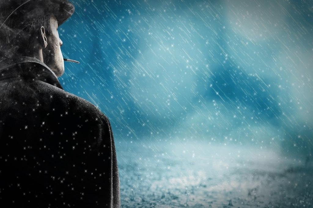 Man Rain Snow Rain Alone Cigarette  - pixel2013 / Pixabay
